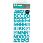 American Crafts - Thickers - Fabric Letter Stickers - Dolce - Aqua