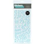 American Crafts - Thickers - Puffy Alphabet Stickers - Rainboots - Powder