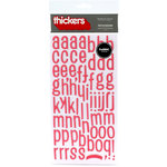 American Crafts - Thickers - Fabric Chipboard Alphabet Stickers - Patchwork - Ladybug, CLEARANCE