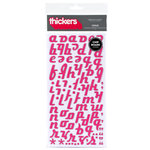 American Crafts - Thickers - Patterned Chipboard Alphabet Stickers - Venus - Taffy, CLEARANCE