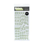 American Crafts - Thickers - Glitter Puffy Alphabet Stickers - Glass Slipper - Mint, CLEARANCE