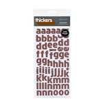 American Crafts - Thickers - Chipboard Alphabet Stickers - Rocketeer - Chocolate, CLEARANCE