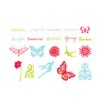 American Crafts - Spring and Summer Collection - MiniMarks - Rub-On Transfers - Book One - Color