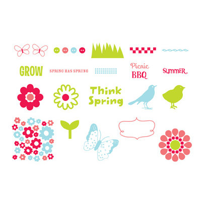 American Crafts - Spring and Summer Collection - MiniMarks - Rub-On Transfers - Book Two - Color, CLEARANCE