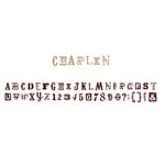 American Crafts - MiniMarks - Alphabet Rub-On Transfers - Chaplin - Brown