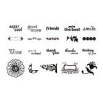 American Crafts - MiniMarks - Rub-On Transfers - Accessories - Book Three - Black, CLEARANCE