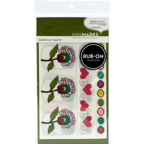 American Crafts - Craft Fair Collection - Minimarks Rub Ons - Market Accents - Color, CLEARANCE