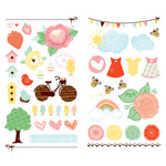 American Crafts - Dear Lizzy Spring Collection - MiniMarks - Rub On Transfers - Perch Accents, CLEARANCE