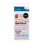 American Crafts - Confetti Collection - Mini Marks - Rub On Transfers - Wishes - Phrases