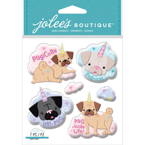 EK Success - Jolee's Boutique - 3 Dimensional Stickers - Pugicorn
