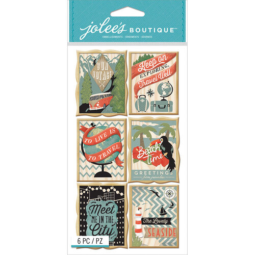 EK Success - Jolee's Boutique - 3 Dimensional Stickers - Travel Poster