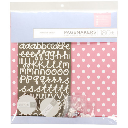 American Crafts - Pagemaker Kit - Baby Girl, CLEARANCE