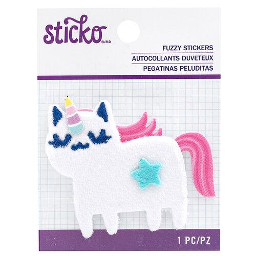 EK Success - Sticko - Fuzzy Stickers - Cat Unicorn