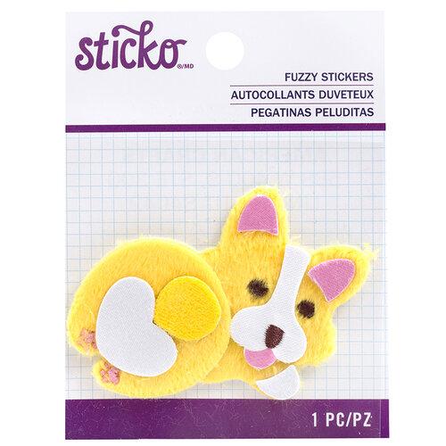 EK Success - Sticko - Fuzzy Stickers - Fat Corgi