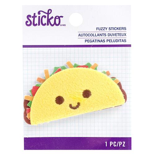EK Success - Sticko - Fuzzy Stickers - Taco