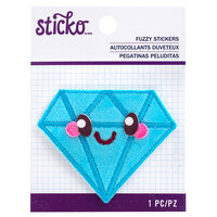 EK Success - Sticko - Fuzzy Stickers - Kawaii Diamond