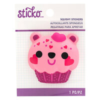 EK Success - Sticko - Squishy Stickers - Bear Cupcake