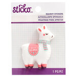 EK Success - Sticko - Christmas - Squishy Stickers - Fa La Llama