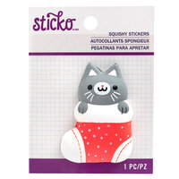 EK Success - Sticko - Christmas - Squishy Stickers - Stocking Cat