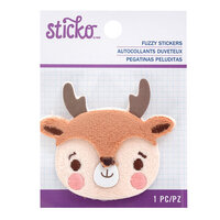 EK Success - Sticko - Christmas - Fuzzy Stickers - Embroidered - Reindeer
