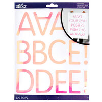 EK Success - Sticko - Stickers - Iridescent Alpha - Rounded Thin - Extra Large - Pink