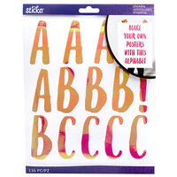 EK Success - Sticko - Stickers - Iridescent Alpha - Le Gourmet - Extra Large - Magenta