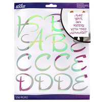 EK Success - Sticko - Stickers - Iridescent Alpha - Hipster Script - Extra Large - Lavender