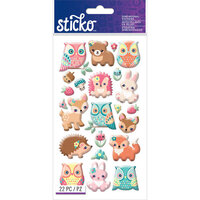 EK Success - Sticko - Epoxy Stickers - Woodland Creatures