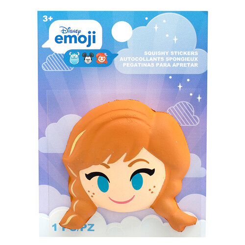 EK Success - Disney Collection - Squishy Stickers - Emoji - Anna