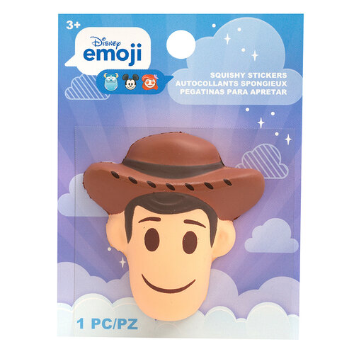 EK Success - Disney Collection - Squishy Stickers - Emoji - Woody