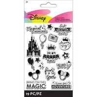 EK Success - Disney Collection - Clear Silicone Stamps - Words