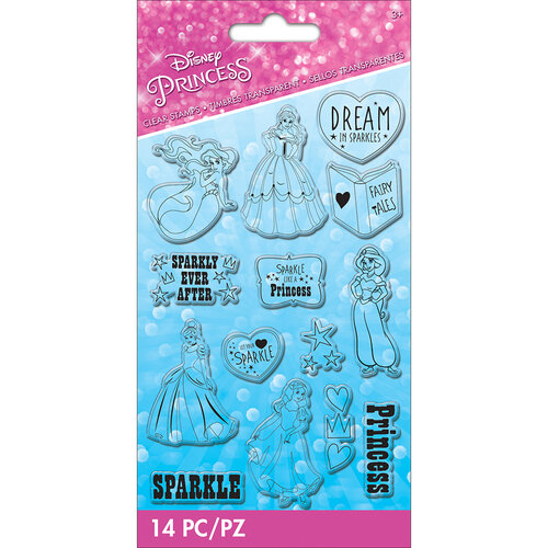 EK Success - Disney Collection - Clear Silicone Stamps - Princess