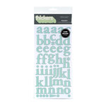 American Crafts - Letterbox Collection - Thickers - Patterned Chipboard Alphabet Stickers - Regards - Geyser, CLEARANCE