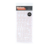 American Crafts - Letterbox Collection - Thickers - Patterned Chipboard Alphabet Stickers - Regards - Coral, CLEARANCE
