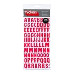 American Crafts - Abode Collection - Thickers - Glossy Chipboard Alphabet Stickers - Apartment - Cherry, CLEARANCE