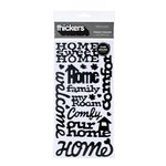 American Crafts - Abode Collection - Thickers - Glossy Chipboard Stickers - Tenant Phrases - Black, CLEARANCE
