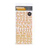American Crafts - Abode Collection - Thickers - Patterned Chipboard Alphabet Stickers - Flat - Sunflower, CLEARANCE