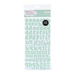 American Crafts - Dear Lizzy Spring Collection - Thickers - Glitter Chipboard Alphabet Stickers - Bliss - Clover, CLEARANCE