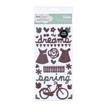 American Crafts - Dear Lizzy Spring Collection - Thickers - Chipboard Shape Stickers - Bliss Accents - Coffee