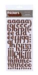 American Crafts - Thickers - Glitter Foam Alphabet Stickers - Poolside - Chesnut