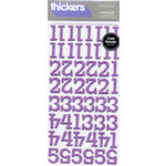 American Crafts - Thickers - Glitter Chipboard Number Stickers - Sprinkles - Lavender, CLEARANCE