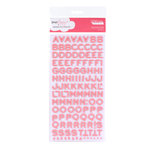 American Crafts - Dear Lizzy Enchanted Collection - Thickers - Foam Alphabet Stickers - Fantastic - Salmon, CLEARANCE