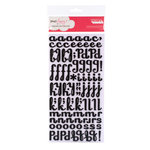 American Crafts - Dear Lizzy Enchanted Collection - Thickers - Glitter Foam Alphabet Stickers - Fancy - Black, CLEARANCE