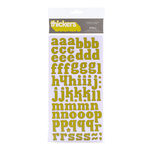 American Crafts - City Park Collection - Thickers - Glossy Chipboard Alphabet Stickers - Stroll - Grasshopper, CLEARANCE