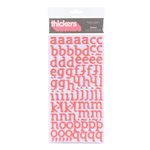 American Crafts - City Park Collection - Thickers - Glitter Foam Alphabet Stickers - Sunny - Salmon, CLEARANCE