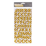American Crafts - Confetti Collection - Thickers - Glitter Chipboard Stickers - Cheer - Banana