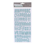 American Crafts - Peachy Keen Collection - Thickers - Chipboard Alphabet Stickers - Fabric - Doll - Waterfall
