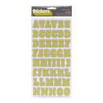 American Crafts - Hello Sunshine Collection - Thickers - Chipboard Alphabet Stickers - Sunset - Limeade