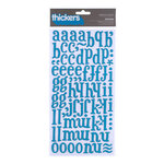 American Crafts - Margarita Collection - Thickers - Glossy Printed Chipboard Alphabet Stickers - Iguana - New Blue