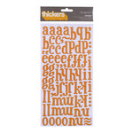 American Crafts - Margarita Collection - Thickers - Glossy Printed Chipboard Alphabet Stickers - Iguana - Melon